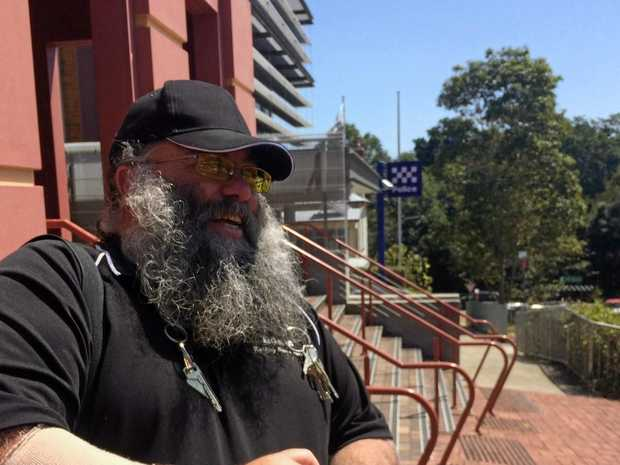 Big Rob outside Lismore Court after a previous appearance.