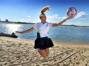 Erika Persijn is looking forward to the netball games at the inaugural Beach Carnivale at Cotton Tree next month.