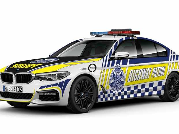 How the Victoria Police BMW 530d highway patrol sedan could look.