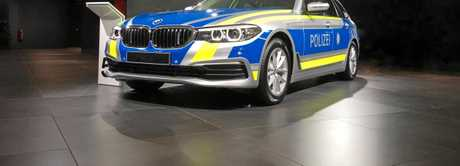 BMW is one of the few manufacturers globally to build specialised vehicles for police, such as this German example at the 2017 Frankfurt Motor Show.