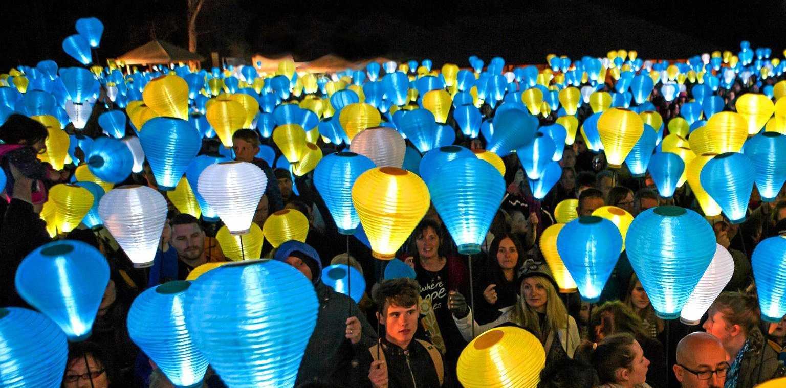 The Leukaemia Foundation, Light the Night is on at Woodgate.