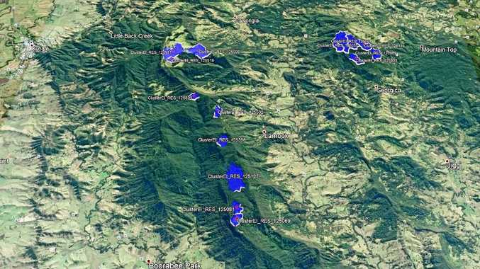 HYDRO POTENTIAL: Sites around the Northern Rivers which the Australian National University has identified as suited to hydro electricity.