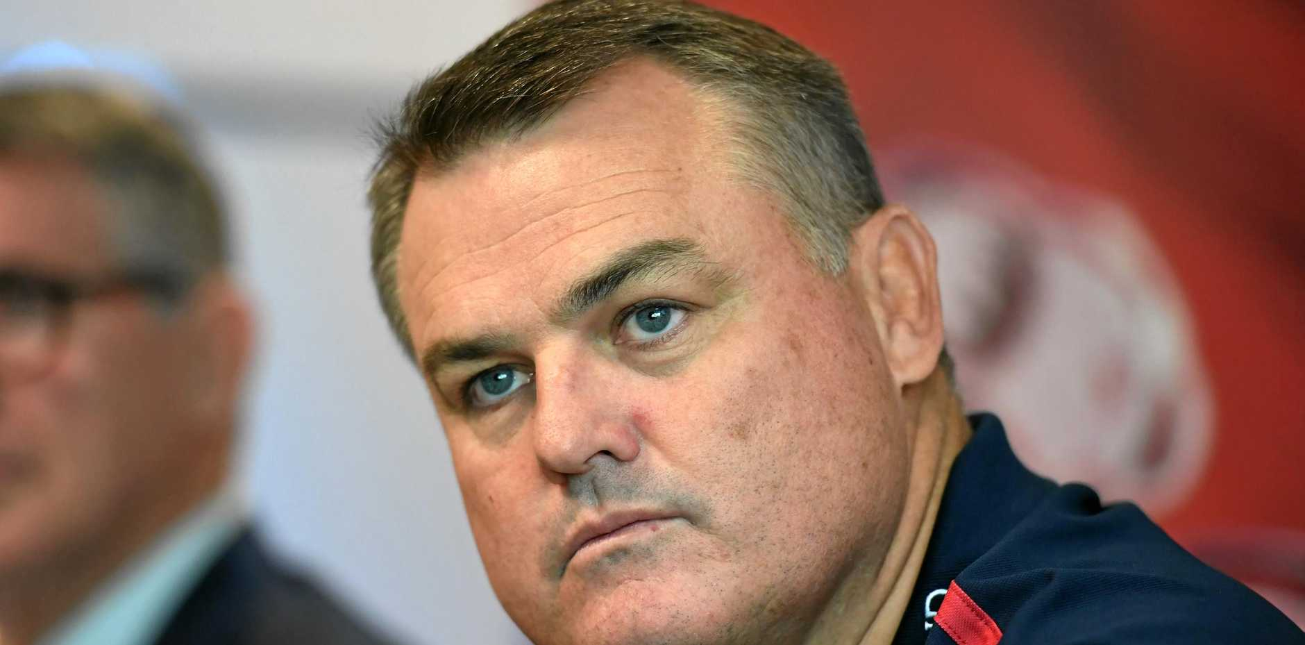 Queensland Reds head coach Nick Stiles during a press conference.