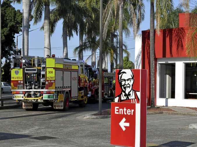 The Grafton KFC has been evacuated.