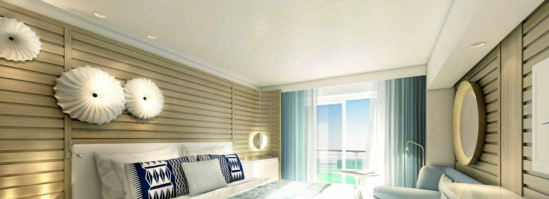 CRUISING: An artist's impression of what will be beautifully appointed Le Laperouse cabins.
