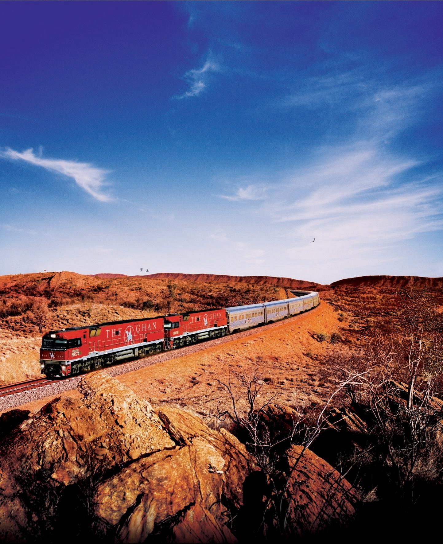 TRAIN TOUR: Australia's impressive The Ghan train.