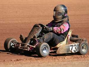 LOVE THE SPORT: Libby Ellis in action during the SKAA Karts Winter Nationals.