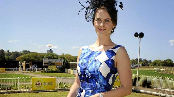 Elizabeth Pisarek, of Fernleigh. Fashions at the Lismore Cup.