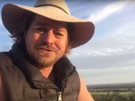 """""""And if you know anyone that's really nice, I'm single as sh*t, send 'em my way,"""" Dave says, as he wraps his heartfelt video. Picture: Facebook/Dave Graham"""