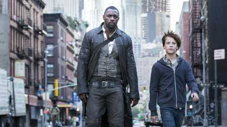 Idris Elba and Tom Taylor in a scene from the movie The Dark Tower, which hit cinemas this year. Supplied by Sony Pictures.Source:Supplied
