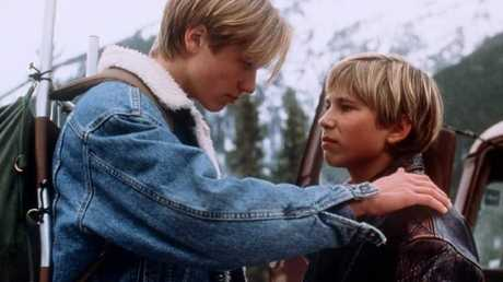 Sawa (left) with fellow teen heart throb Jonathon Taylor Thomas in the 1997 film Wild America.