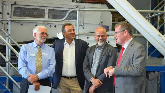 Pacific Seeds launches new seed treatment plant. Enjoying the launch are (from left) Advanta Seeds Australia MD Nick Gardner, UPL CEO Jai Shroff, Advanta Seeds CEO Bhupen Dubey and Federal Member for Groom, John McVeigh.
