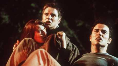 Sawa (centre) in the 2000 horror hit Final Destination.