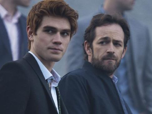 Riverdale star KJ Apa (left) crashed his car after falling asleep behind the wheel.
