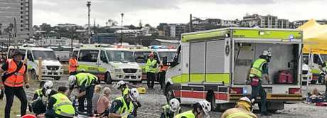 Traumasim conduct a live situation for emergency services.
