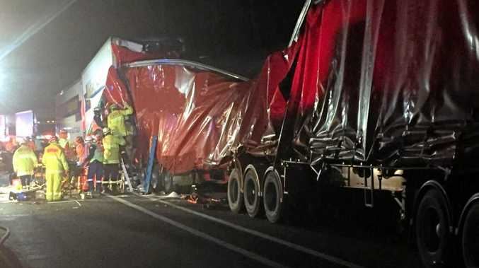 HORRIFIC night CRASH: One driver had to be airlifted to hospital following the Telegraph Point Crash.