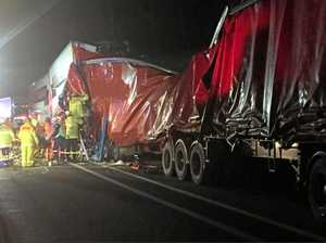 How did this four-truck pile-up happen on the Pacific Hwy?