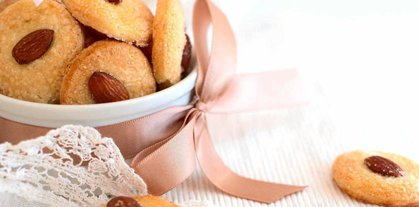 These delicious almond biscuits are perfect for a morning tea treat.