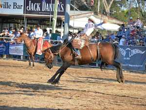 IN THE SADDLE: Swanfels rider Lane Grayson in action at the Warwick Showgrounds, the venue for the national finals.