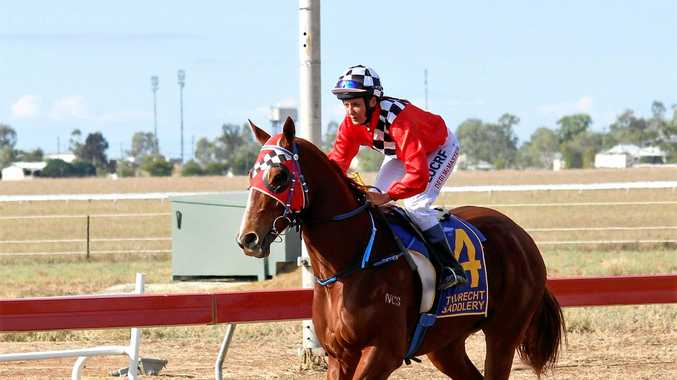 Toowoomba jockey Debi McMaster returns to Longreach to partner Show Us A Smile in tomorrow's $15,000 cup.