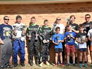 SPEED DEMONS: Some of the Lismore Kart Club members after the recent race meeting at Tamworth.