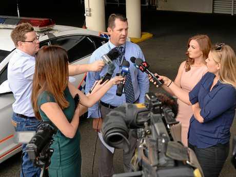 Detective Senior Sergeant Luke Peachey updates the media on a stabbing in Emerald overnight and the shooting of a 5 metre crocodile near Rockhampton.