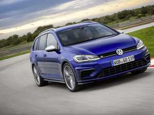 The new VW Golf R which doubles as a family wagon