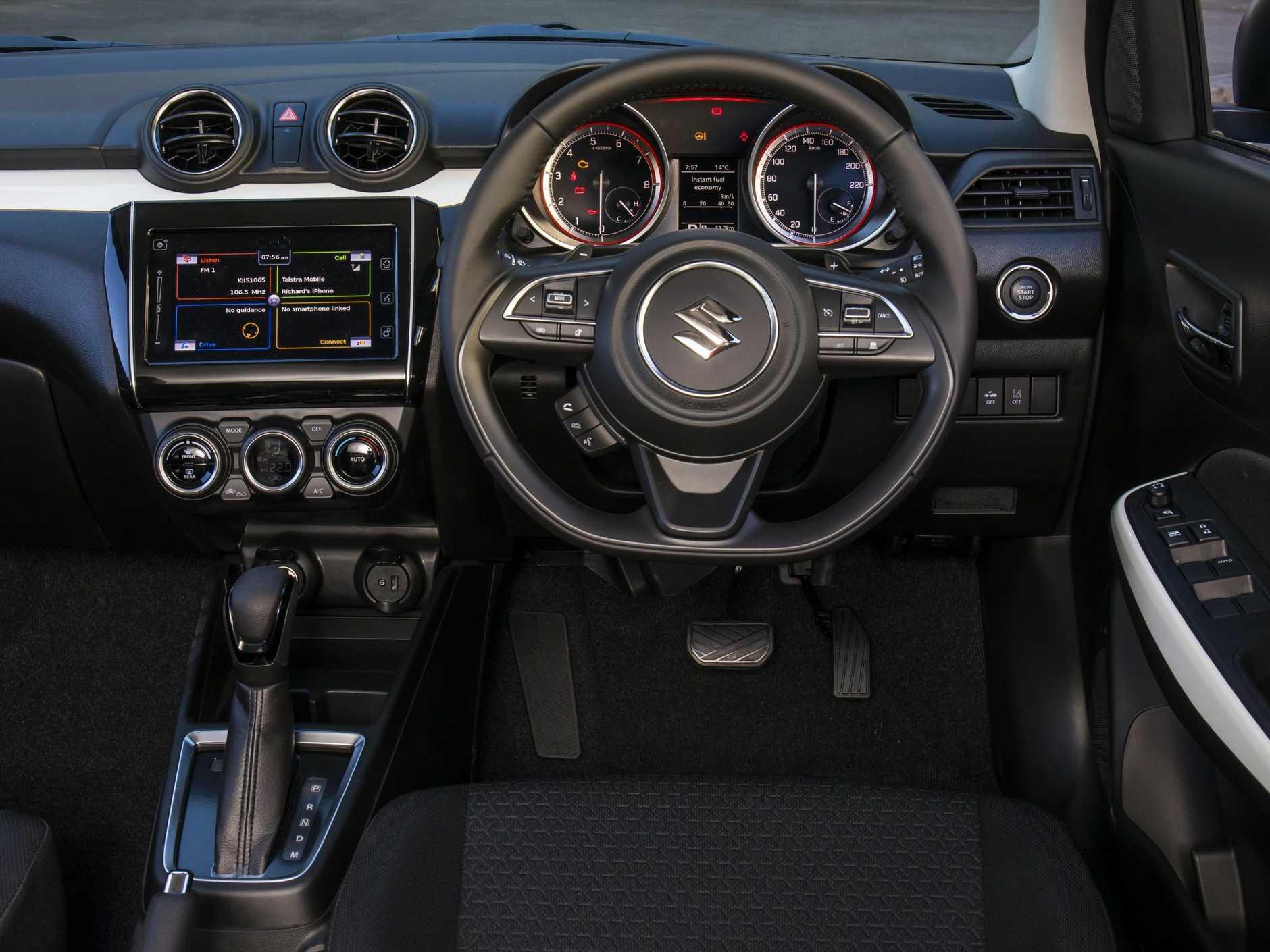 Inside the Suzuki Swift GLX.