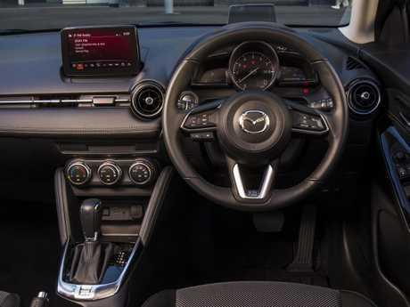 Inside the Mazda2 Genki.