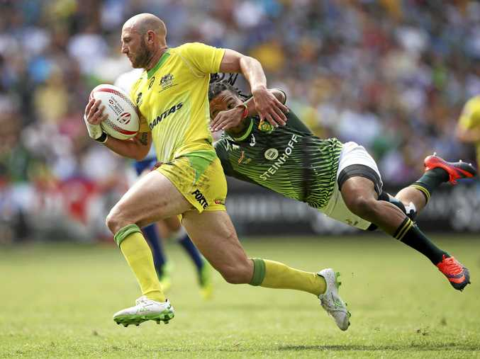 James Stannard on the fly for Australia in the World Rugby Sevens Series tournament in Sydney earlier this year.