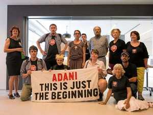 Anti-Adani protesters storm office