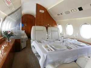 Inside Elton's luxury hired jet