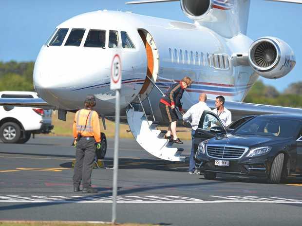 Elton John arriving in Mackay