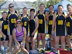 SYDNEYSIDERS: The St Joseph's Penrith Over-40s netball team at the Masters Games in Lismore.