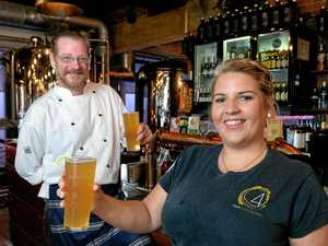 ON TAP: Pumpyard chef Garth Kelly and Corinne Browne test out the new Lime Lager.