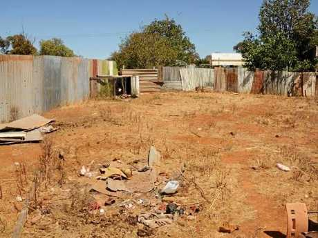 Police dug up the backyard of the Terowie home where Mr Meffert's remains were discovered but found no further clues. Picture: SAPOL