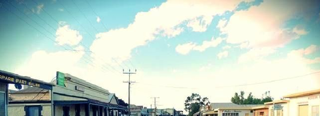 The eerie high street in the remote town of Terowie, where police believe Martin Meffert's killers are hiding.
