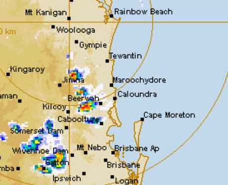 The BOM's radar presently shows a number of intense systems moving towards the Queensland coast.