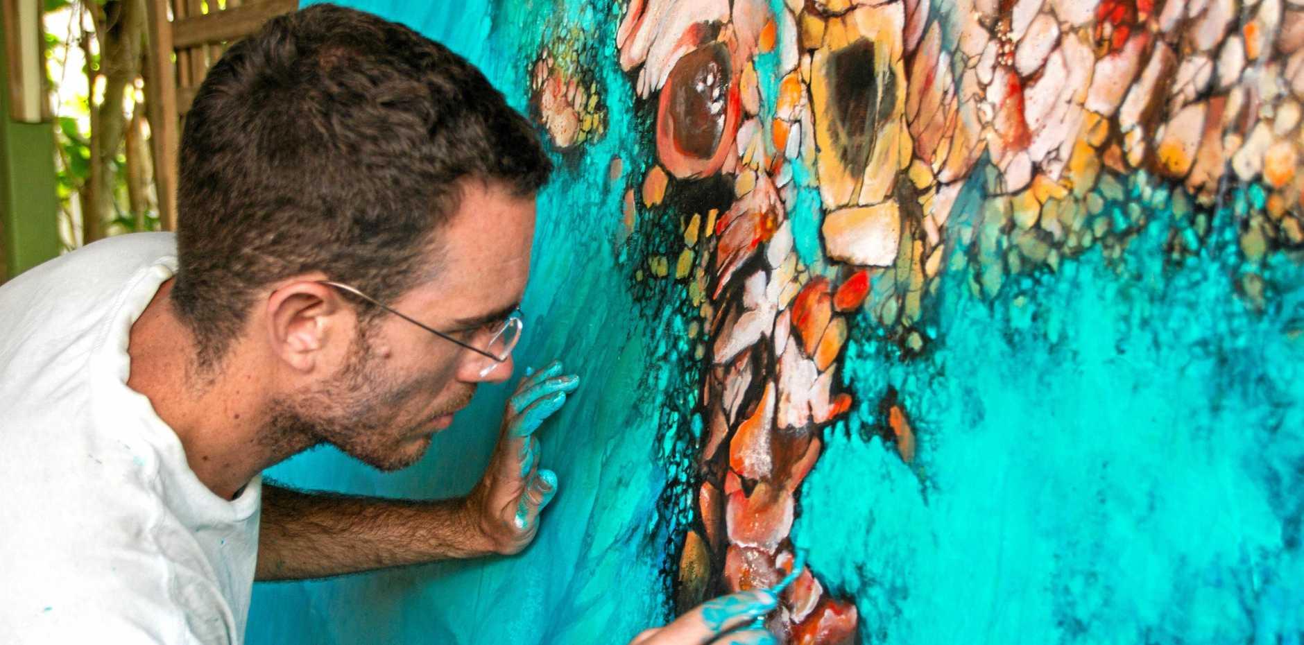 Artist Scott Denholm.