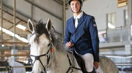French International Challenge competitor Louis Menand at the 2017 Pony Club Australia National Championships at Toowoomba Showgrounds yesterday.