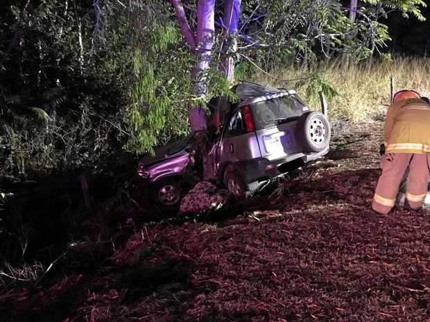 A man was taken to Rockhampton Hospital with critical injuries after a single vehicle crash on Lakes Creek Road, Rockhampton.