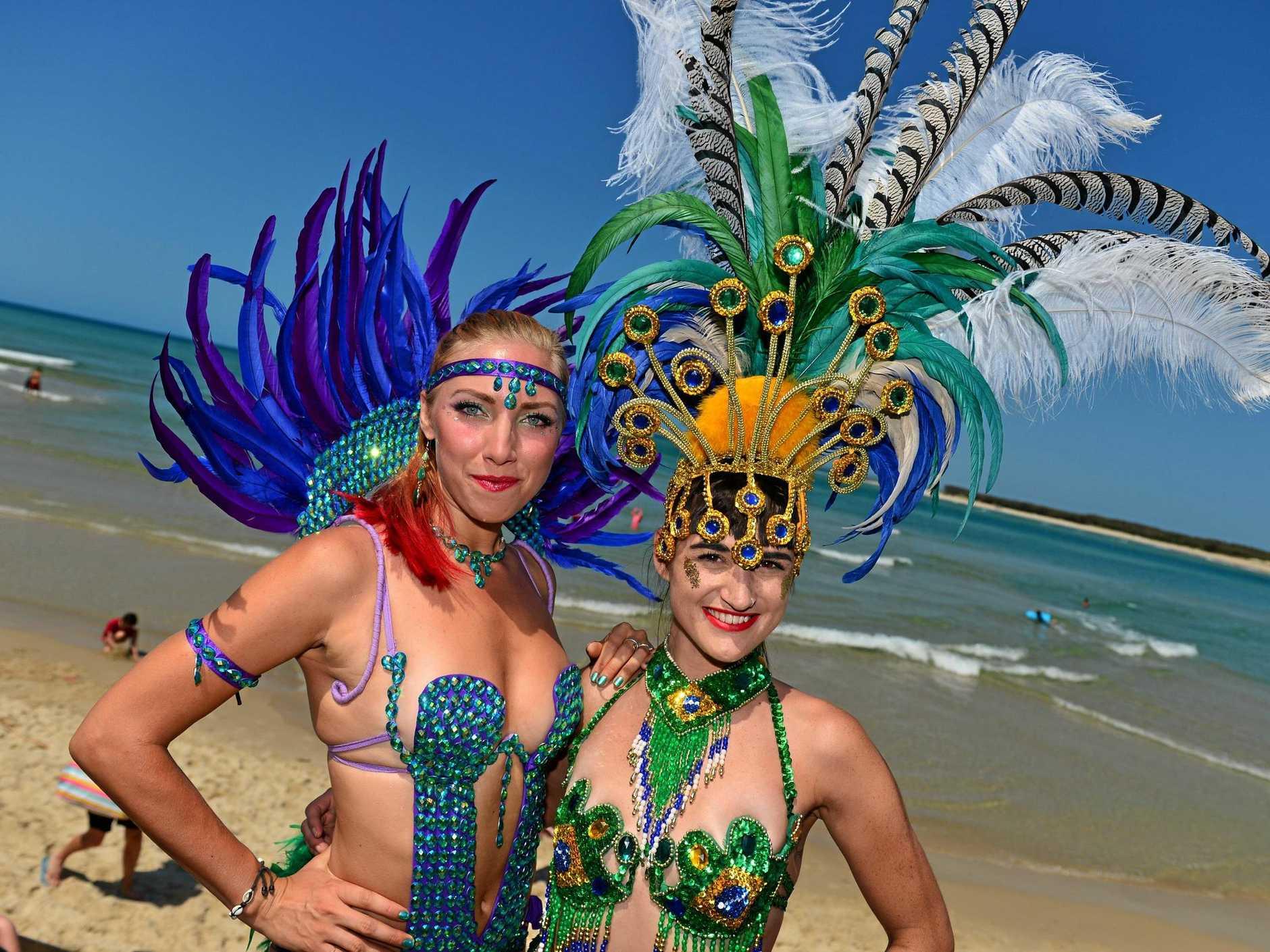 Zofia Nordqvist and Gillian Lewis in Caloundra for the Festuri.