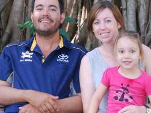 Emily and Mark Woodman with their daughter Charlotte, 4.Source:Supplied