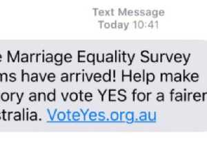 Australians get surprise 'Yes' vote SMS from campaigners