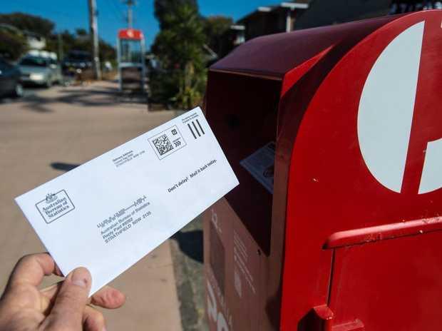Australia's same-sex marriage postal vote , australia post box.. 21 sept 2017