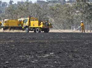 Grass fire Hodgson Vale