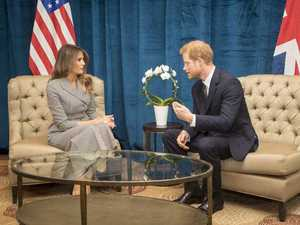 Harry and Melania's awkward Invictus meeting