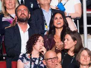Meghan Markle, centre right, takes in the opening ceremonies of the Invictus Games in Toronto on Saturday, Sept. 23, 2017.