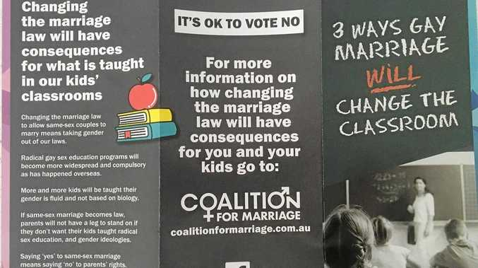 IN THE MAIL: The Coalition for Marriage distributed the leaflet titled