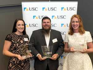 Helicopter CEO and volunteer midwife lands top USC honour